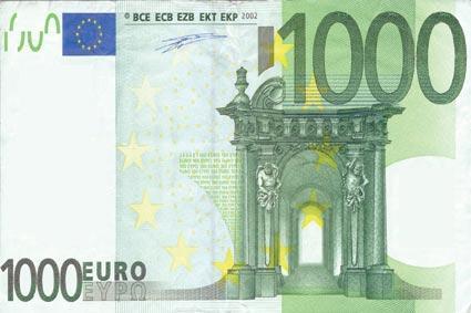 Bancnota de 1000 Euro