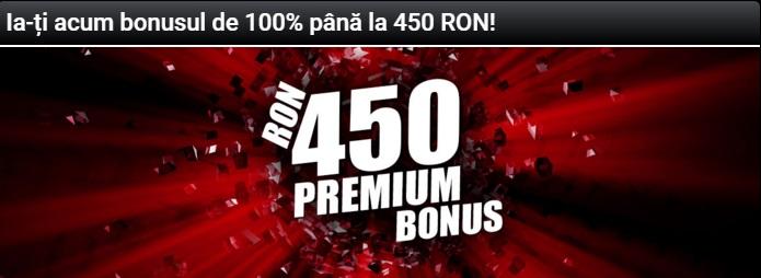 Bonus la pariuri 450 Ron la agentia de pariuri online Winmasters