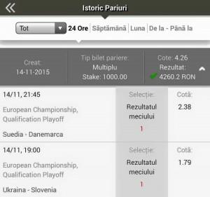 Win El greco sambata 14 nov