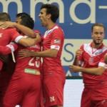 Bucurie pentru Mouscron dupa victoria cu FC Bruges din septembrie 2015