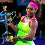 Serena Williams cu trofeul Australian Open 2015