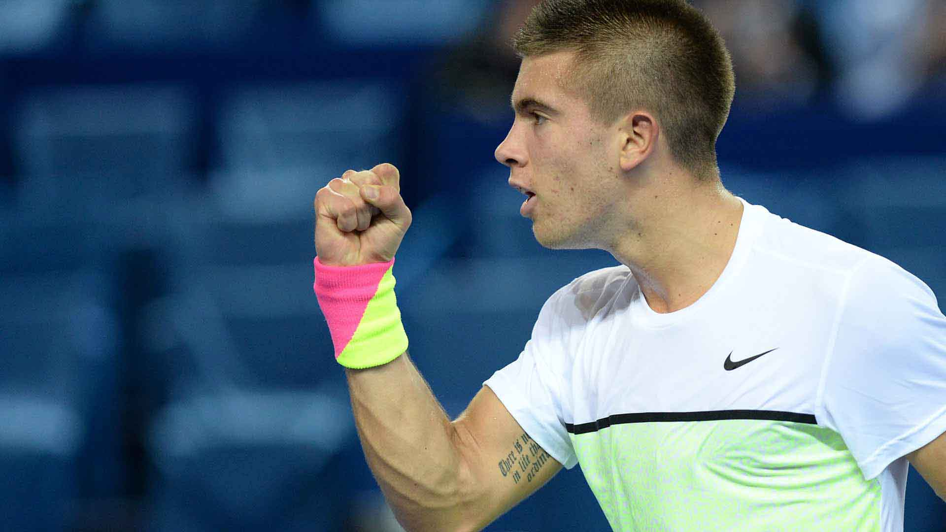 Borna Coric launches his Marseille campaign with a 6-4, 7-5 win over Denis Istomin.