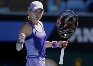 Simona bucurandu-se dupa victoria de anul trecut impotriva lui Bethanie Mattek-Sands