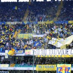 Fanii lui Chievo creaza o superatmosfera pe Bentegodi