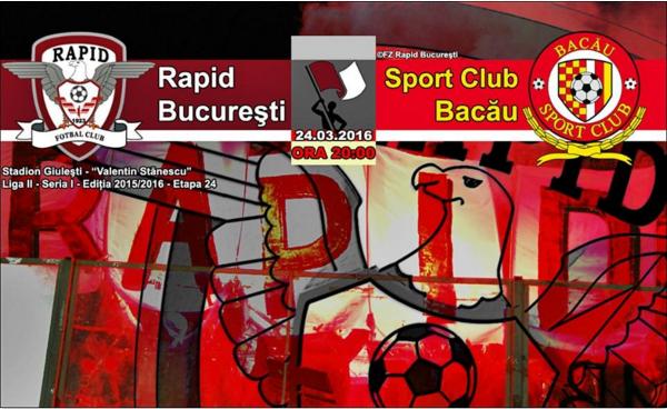 Ponturi pariuri fotbal Romania - Rapid Bucuresti vs SC Bacau