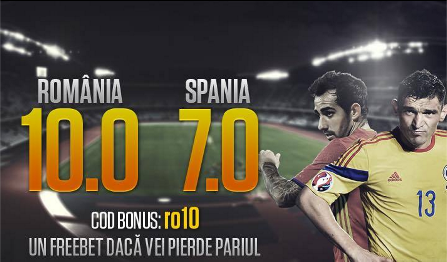 Pariaza la NetBet si ai cote marite pentru Romania vs Spania