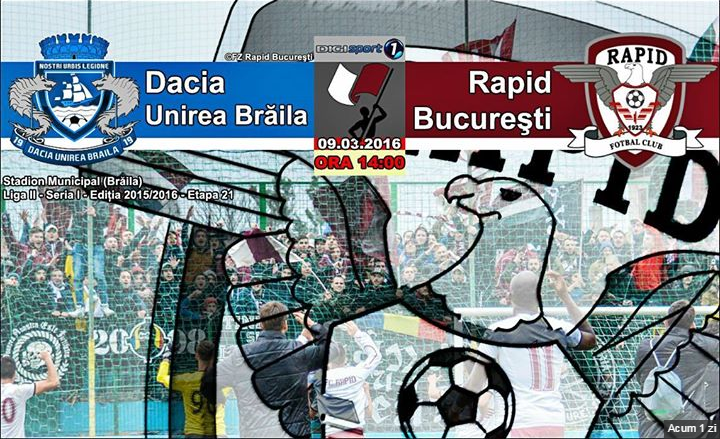 Dacia Unirea Braila vs Rapid