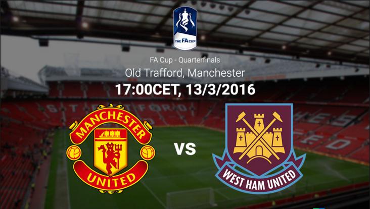 Ponturi pariuri fotbal FA Cup - Manchester United vs West Ham