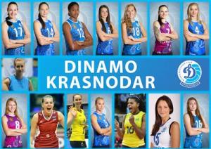 Poza oficiala cu componenta echipei ruse, Dinamo Krasnodar la volei feminin