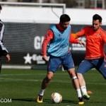 Jucatorii Valenciei la antrenamentul premergator meciului