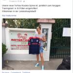 Pagina de socializare a clubului austriac la sosirea Roxanei
