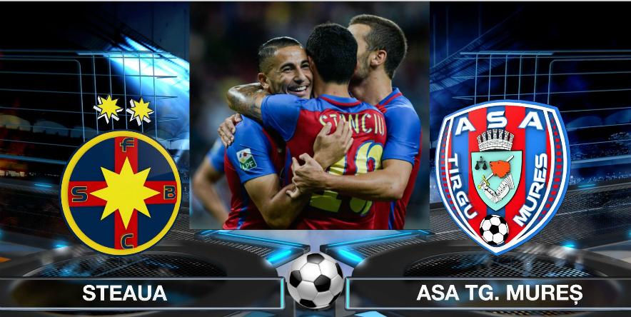 Ponturi pariuri fotbal Steaua Bucuresti vs ASA Targu Mures