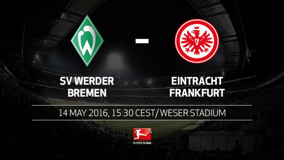 Ponturi fotbal Germania Werder Bremen vs Eintracht Frankfurt