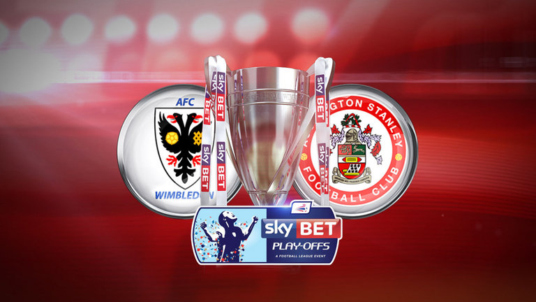 Wimbledon vs Accrington semifinala League Two