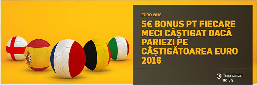 Bonus exclusiv pentru EURO 2016 de la Betfair
