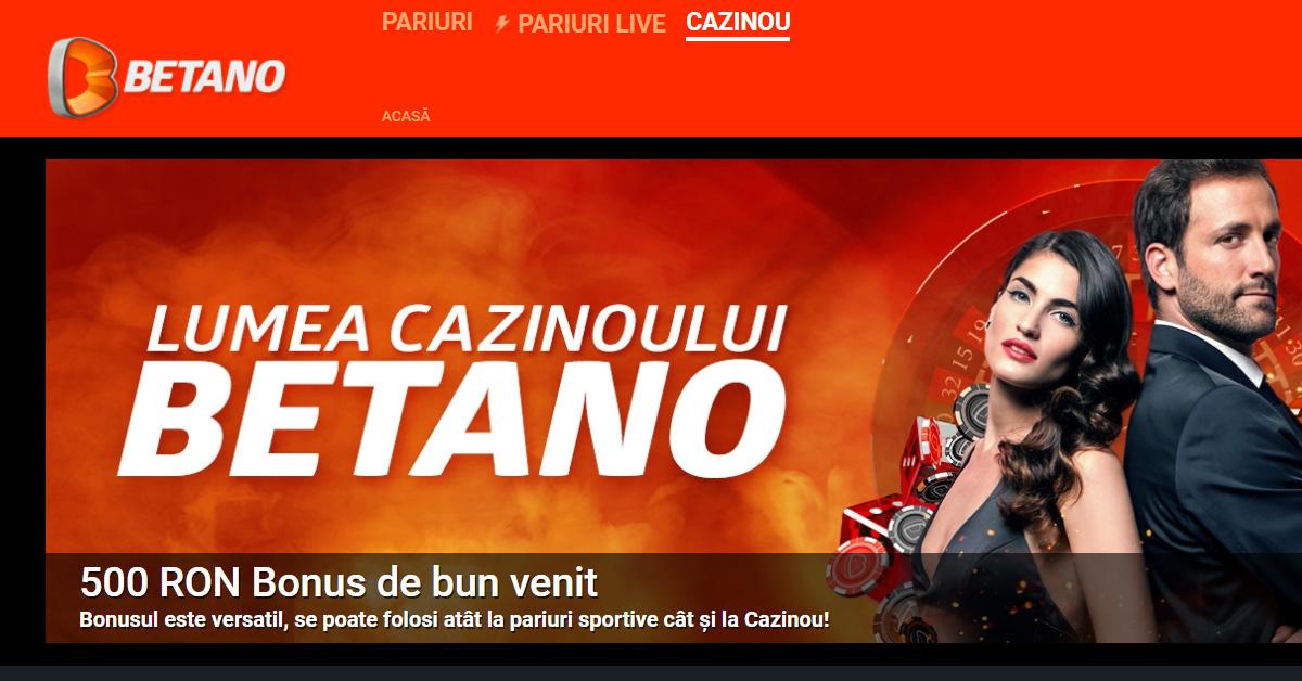 Cazino online Betano bonus 500 RON