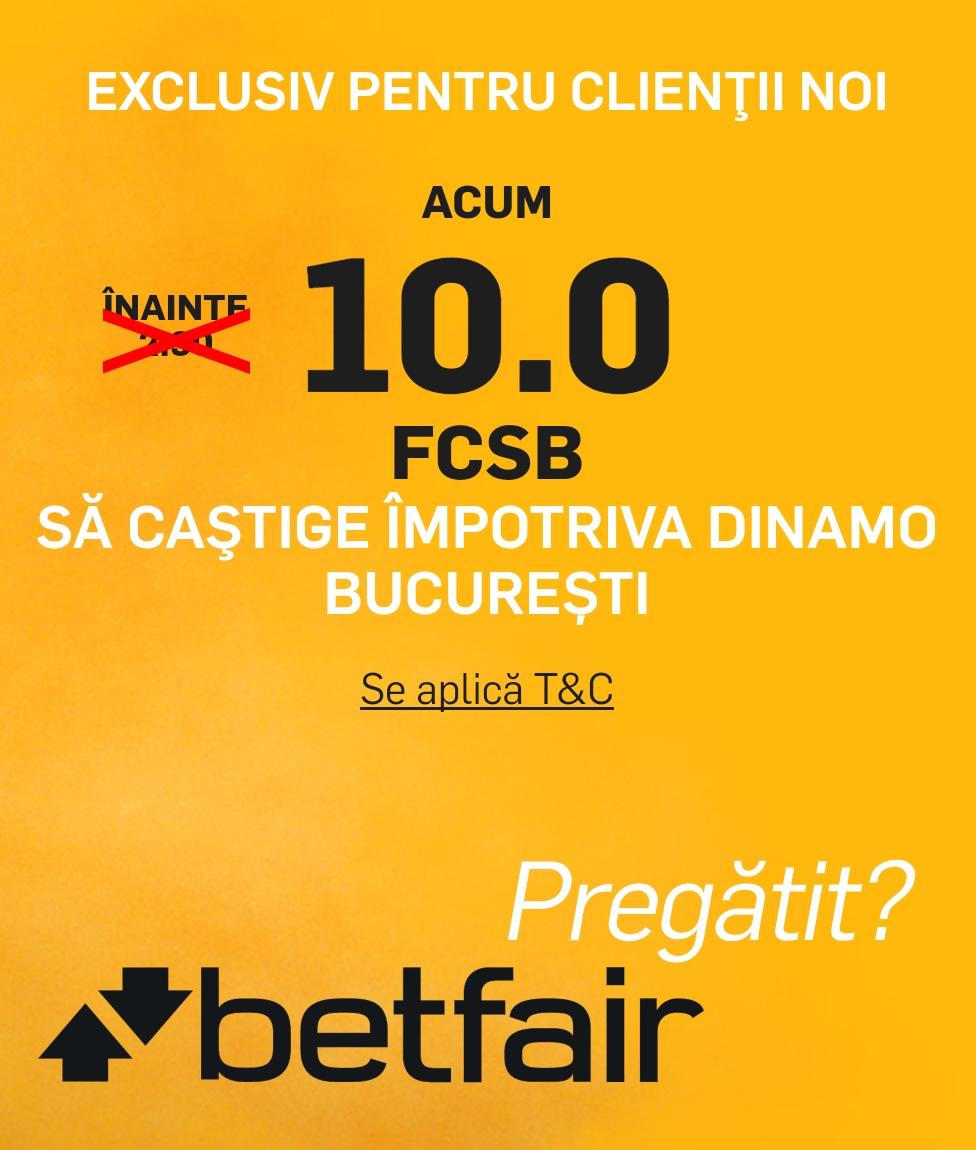 Bonusuri si promotii pentru derby-ul Dinamo vs FCSB