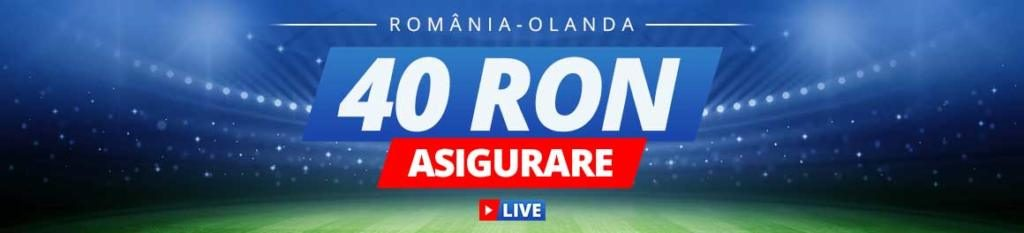 Sportingbet iti asigura pariul plasat pe Romania vs Olanda