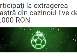 Azi, la Unibet, puteti participa la extragerea din cazinoul live de 50.000 RON