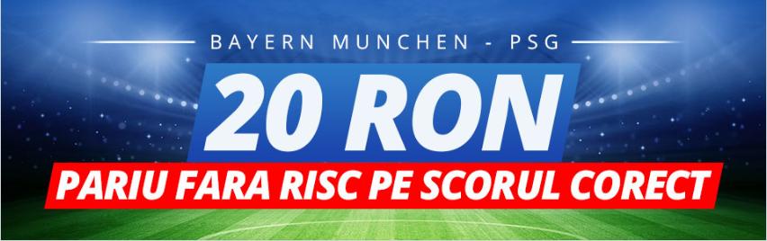 20 RON daca intuiesti scorul intalnirii Bayern Munchen vs PSG
