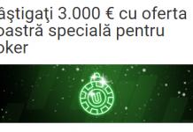 Azi, câştigaţi 3.000 € cu oferta Unibet specială pentru poker