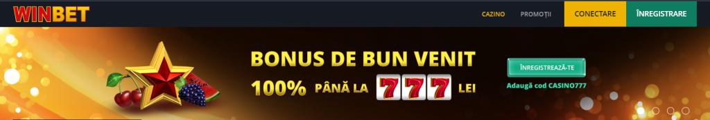winbet bonus 777 ron 100%