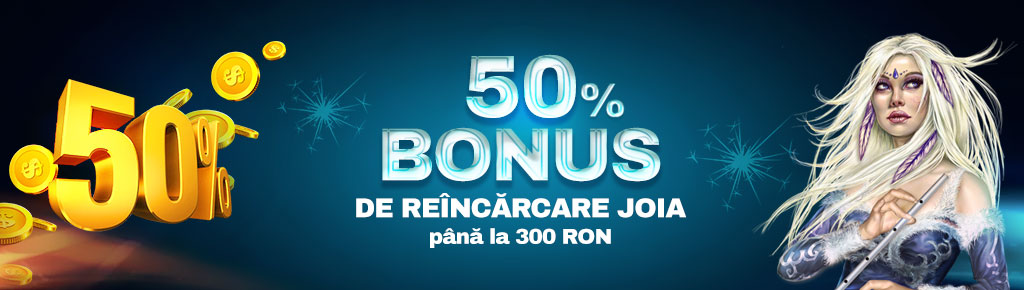 Winbet: Joi ai 50% bonus de reincarcare pana la 300 RON!
