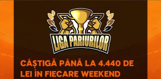 Inregistreaza-te in LIGA PARIURILOR si castiga pana la 4.440 lei in fiecare weekend