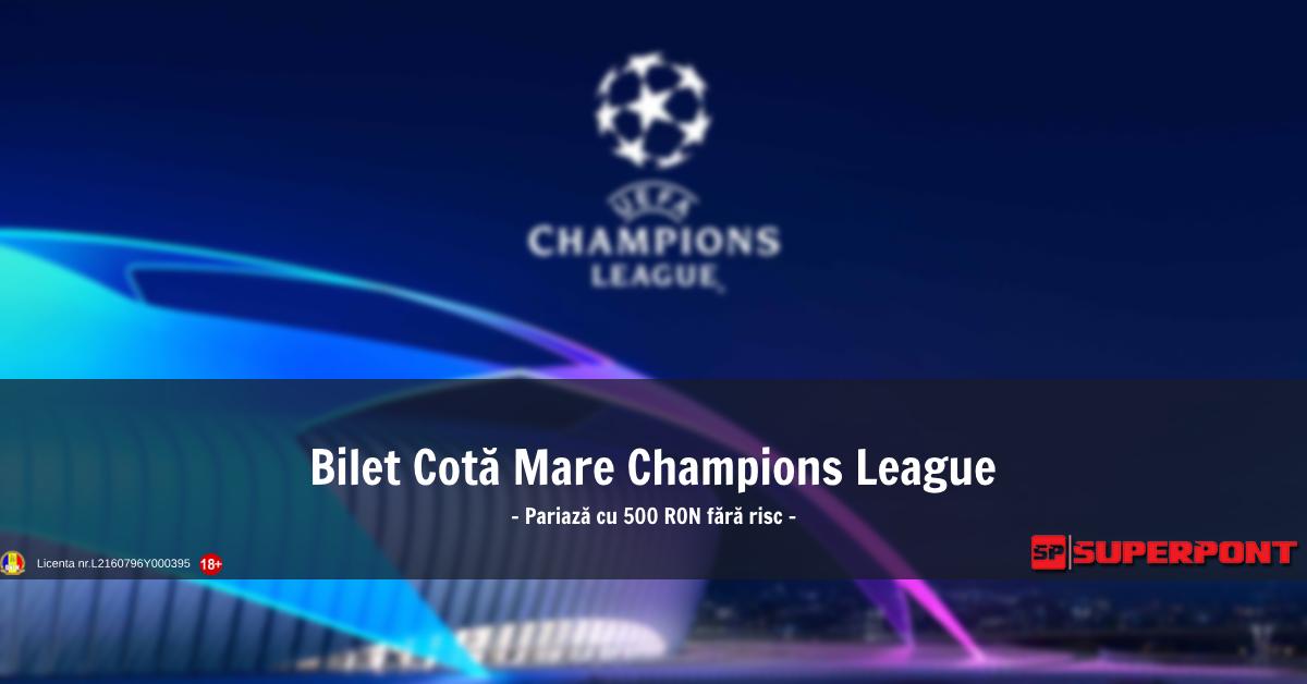Bilet Champions League 6 noiembrie 2018 - Cota 56!