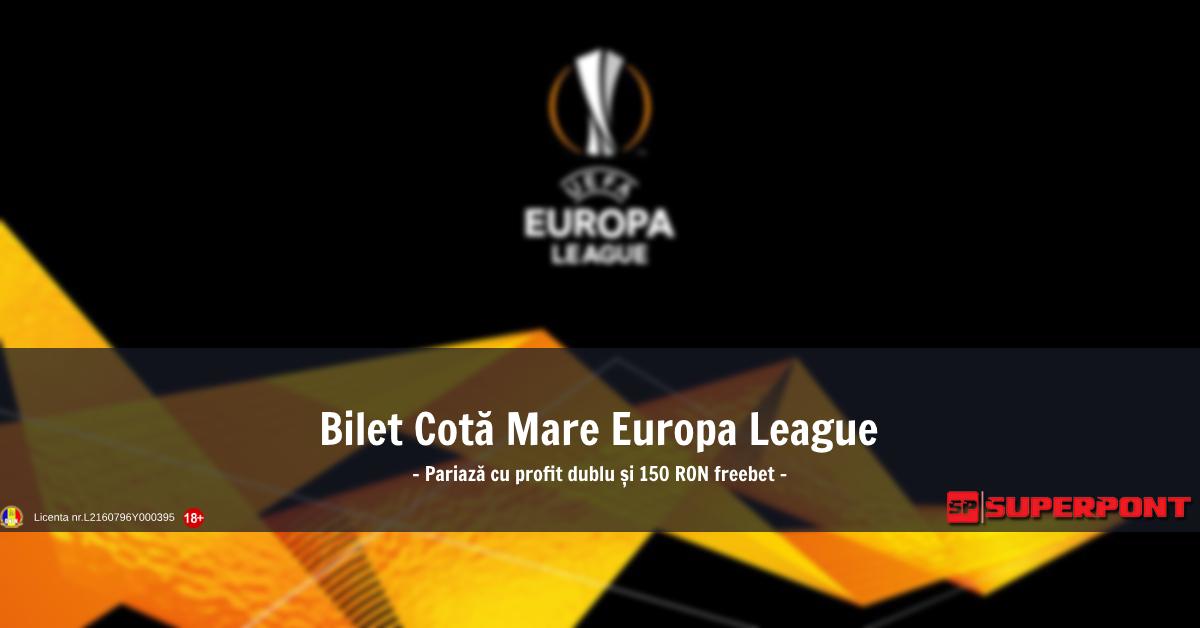 Bilet Europa League 7 noiembrie 2018 - Cota 58!