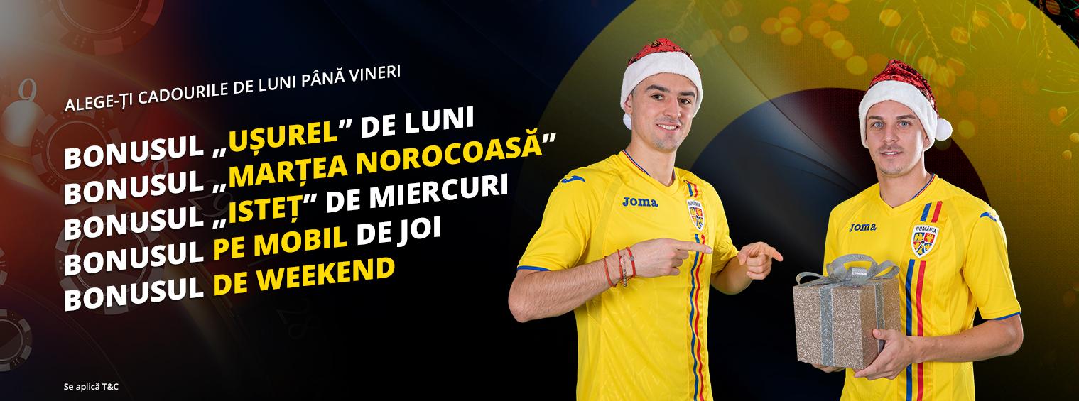 In luna Decembrie iti alegi singur cadourile la cazinoul Fortuna!