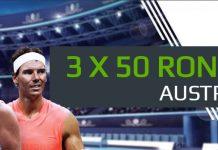 Pariaza pe Australian Open si obtine 3 FREEBETURI de 50 RON!