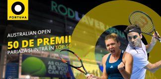 Castiga premii la Fortuna cu ocazia Australian Open!