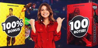 1000 RON BONUS sau 100 ROTIRI EXTRA in weekend la Maxbet!