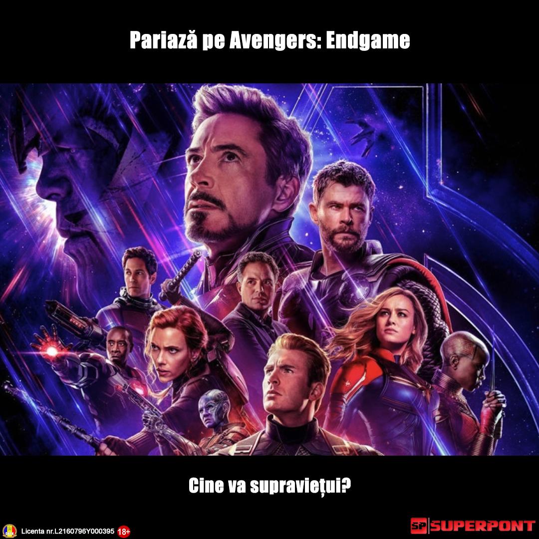 Cote la pariuri pentru Avengers Endgame