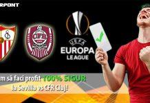 Cum sa faci profit sigur cu Sevilla vs CFR